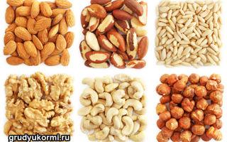Разрешенные виды орехов при грудном вскармливании