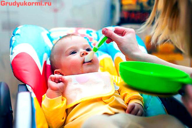 Первый прикорм ребенка с 4-х месяцев