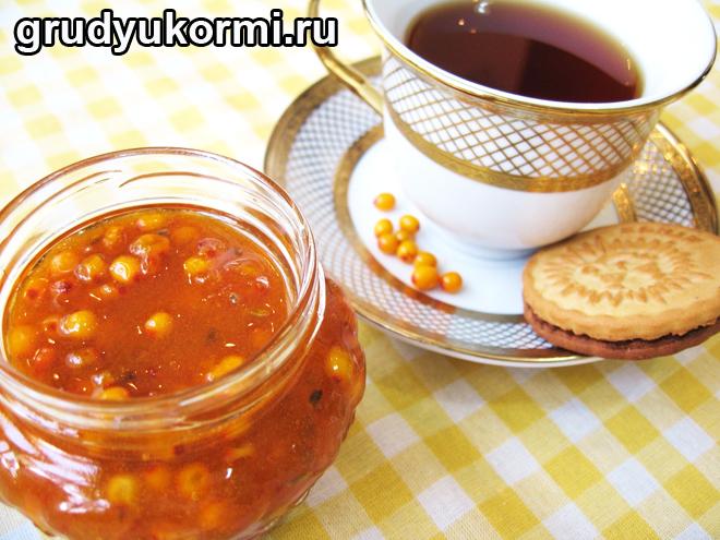 Облепиховое варенье и чай