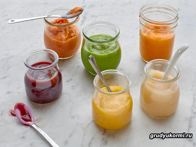 Овощное пюре из разных овощей в баночках