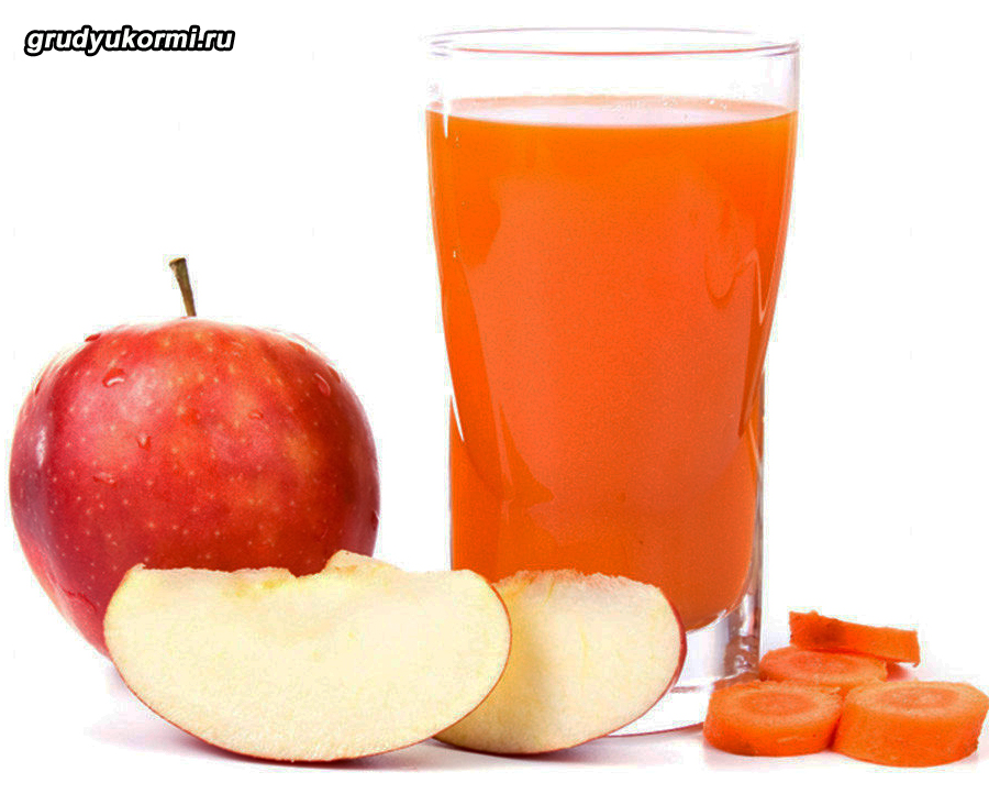 Свежевыжатый сок из моркови и яблока