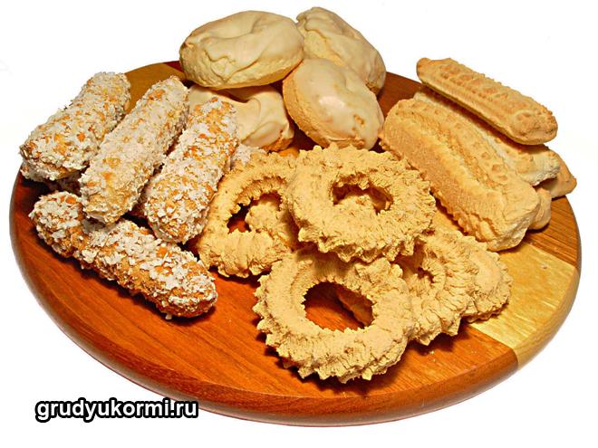 Разные виды печенья