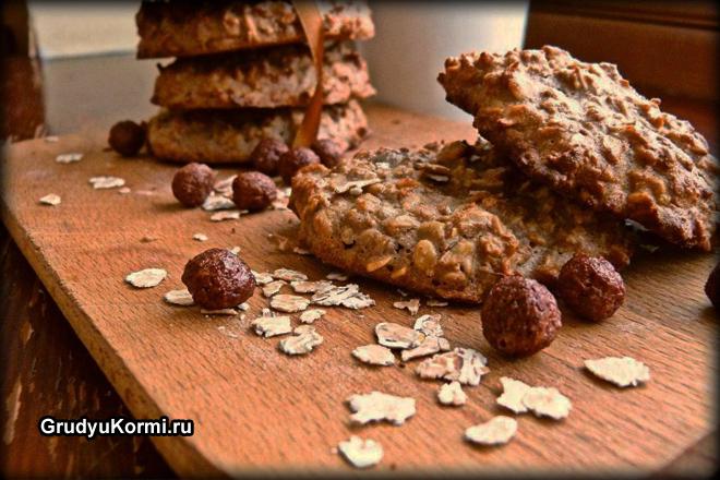 Овсяное печенье с орешками