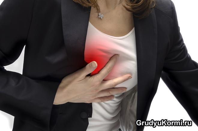 Боли в груди у девушки