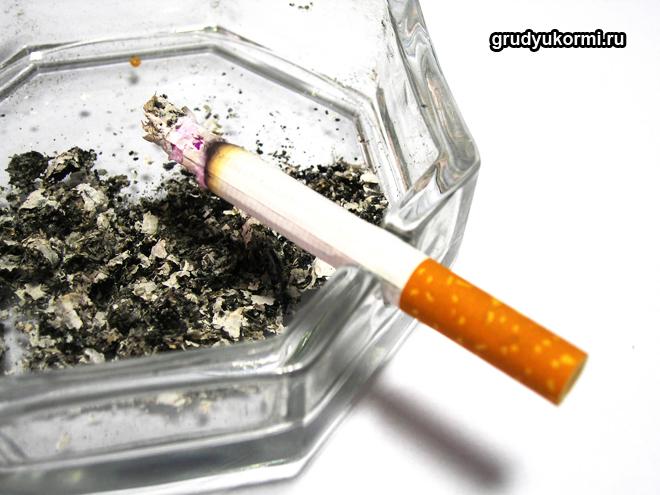 Сигарета в пепельнице